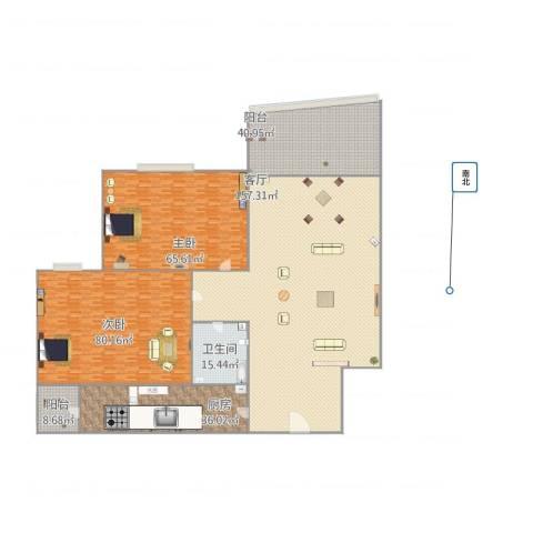 保利欣苑2室1厅1卫1厨521.00㎡户型图