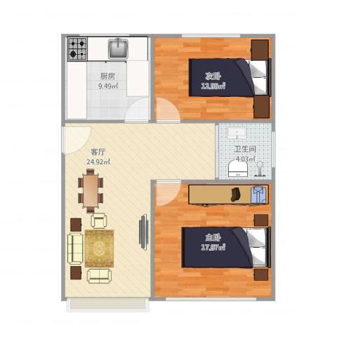 三林世博家园2101弄33号6012室1厅1卫1厨92.00㎡户型图