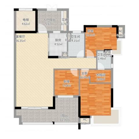 丽雅嘉园1室1厅2卫1厨151.00㎡户型图