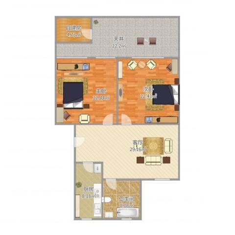 同济路1111弄2室1厅1卫1厨156.00㎡户型图