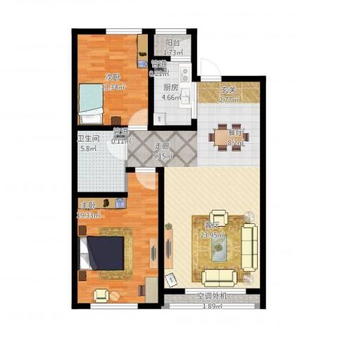 富雅豪临2室1厅1卫1厨125.00㎡户型图