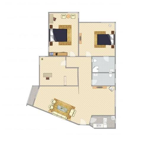 金都花园C3室1厅2卫1厨203.00㎡户型图