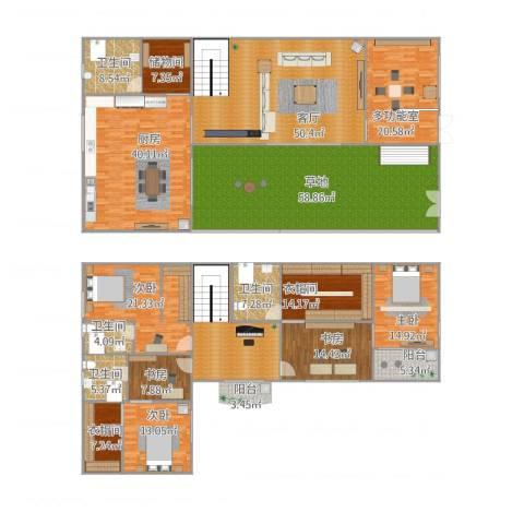 新东方花园5室1厅7卫2厨424.00㎡户型图