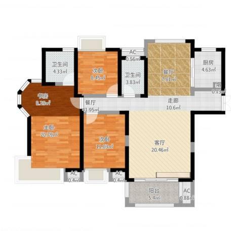 联发君悦湖3室1厅7卫1厨149.00㎡户型图