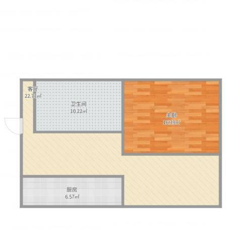 大上海国际花园酒店公寓1室1厅1卫1厨75.00㎡户型图