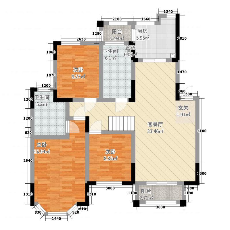 香榭丽园户型3室