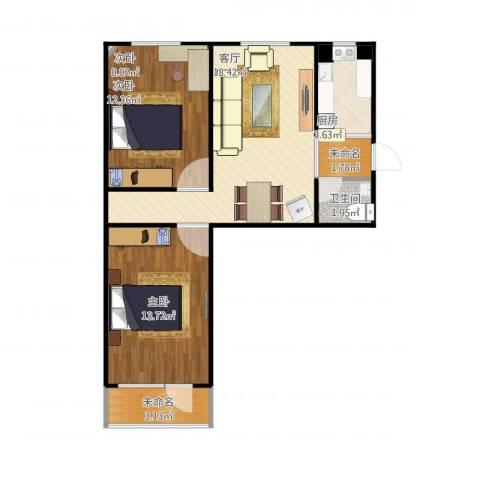 刘家窑南里3室1厅1卫1厨75.00㎡户型图