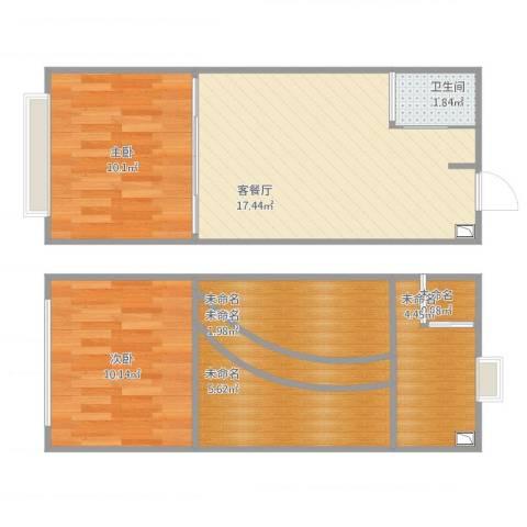 合景睿峰2室1厅2卫1厨79.00㎡户型图