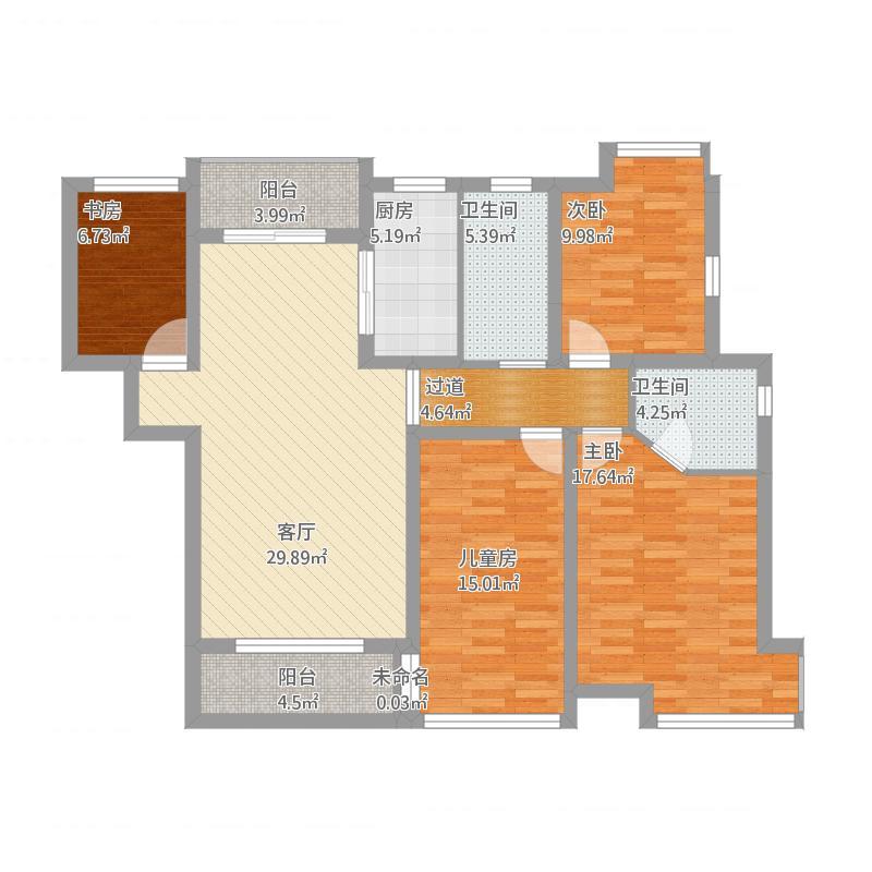 碧水龙庭3-1702   136平米户型
