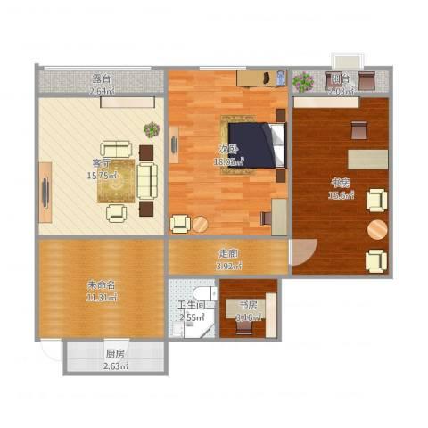 发祥1号公馆3室1厅1卫1厨105.00㎡户型图