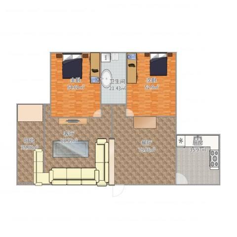石人东路11号院2室2厅1卫1厨461.00㎡户型图