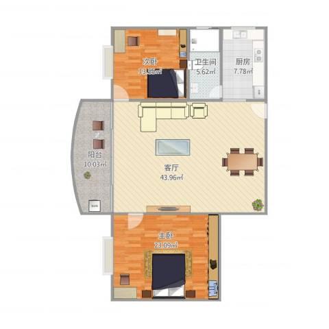 宏丰大厦13062室1厅1卫1厨137.00㎡户型图
