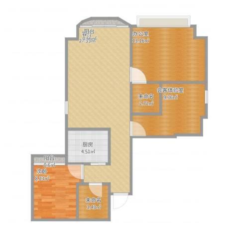 聚龙阁9051室1厅2卫1厨98.00㎡户型图