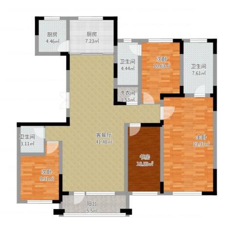 复地康桥4室1厅3卫2厨148.08㎡户型图