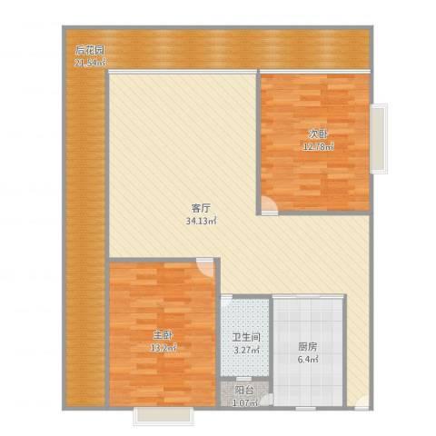 乐然水畔2室1厅1卫1厨125.00㎡户型图