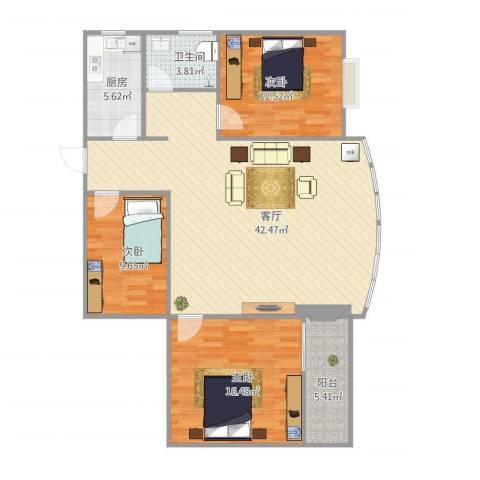 宏丰大厦5033室1厅1卫1厨129.00㎡户型图