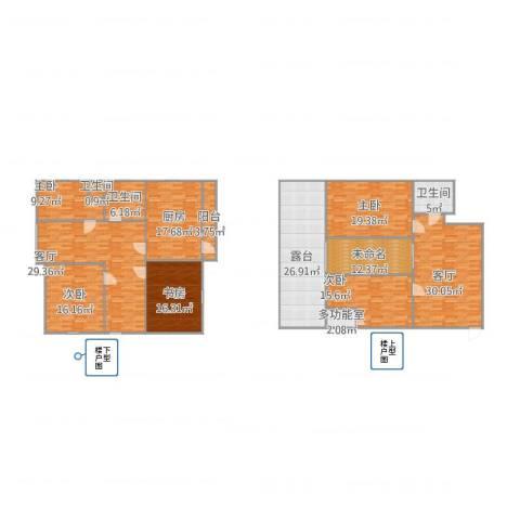 云川公寓5室2厅3卫1厨281.00㎡户型图