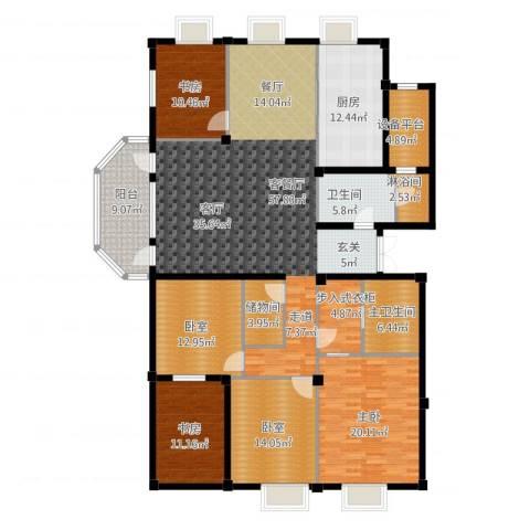 绿城御园3室1厅1卫1厨246.00㎡户型图
