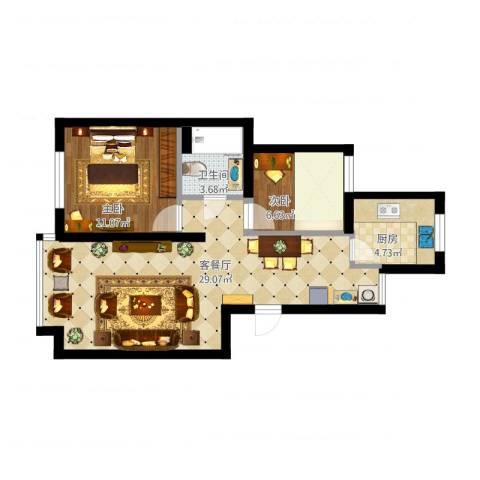 江航路60弄瑞和新苑15号302室(麻先生)2室1厅1卫1厨80.00㎡户型图