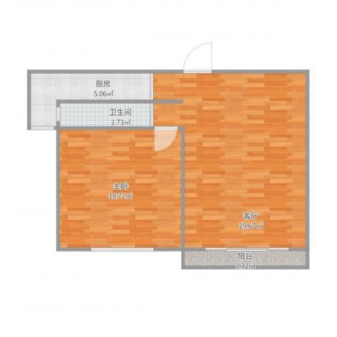 嘉城新航域1室1厅1卫1厨79.00㎡户型图