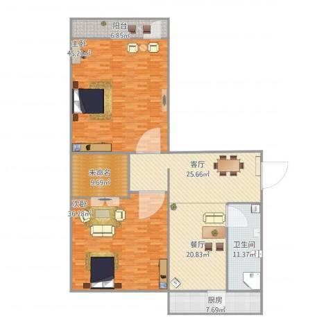 制锦市小区2室2厅1卫1厨211.00㎡户型图