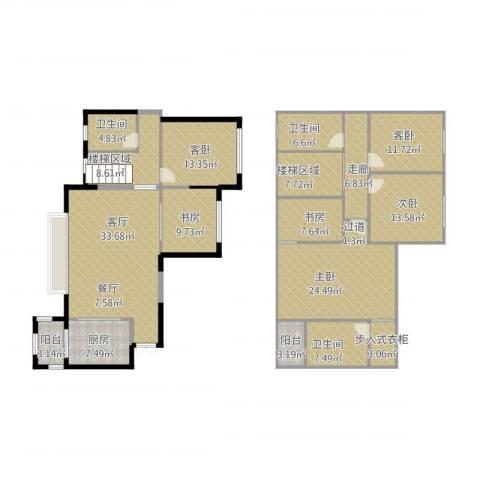建发中央鹭洲4室1厅3卫1厨240.00㎡户型图
