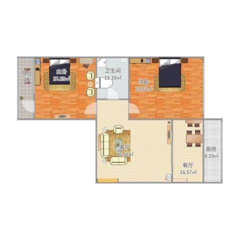 孙家沟散盘2室2厅1卫1厨172.21㎡户型图