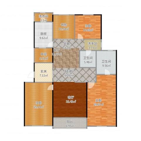 九龙仓国宾1号4室1厅2卫1厨244.00㎡户型图