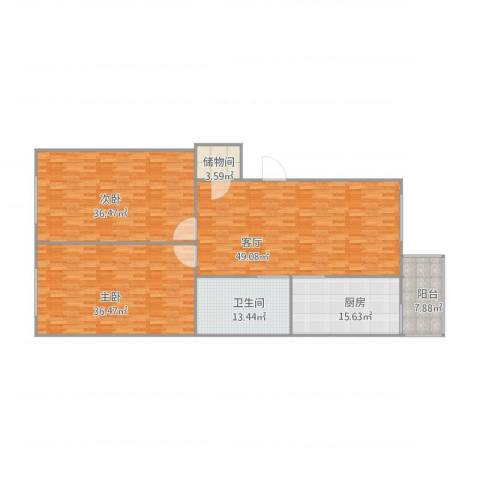 安达小区19-1-5022室1厅1卫1厨213.00㎡户型图