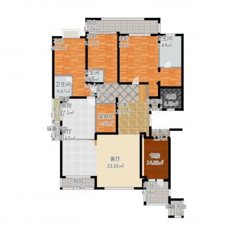 雅戈尔东海府4室1厅9卫1厨260.00㎡户型图