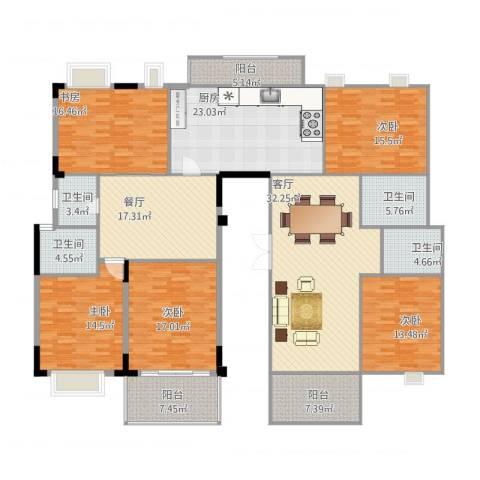 大信新家园5室2厅4卫1厨255.00㎡户型图