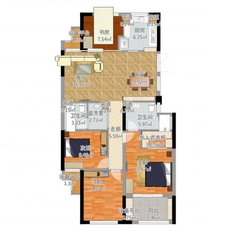绿城桃源小镇4室1厅5卫6厨151.00㎡户型图