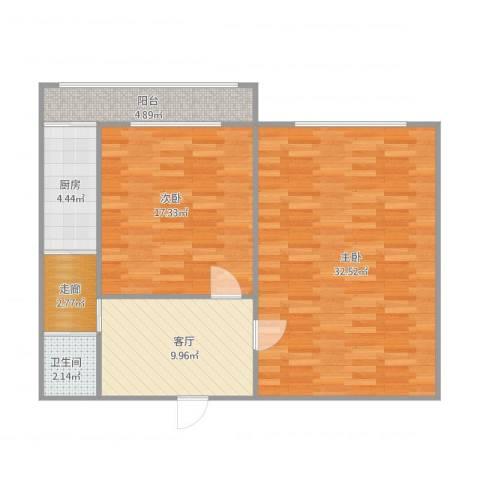 启迪园十五中宿舍2室1厅1卫1厨99.00㎡户型图