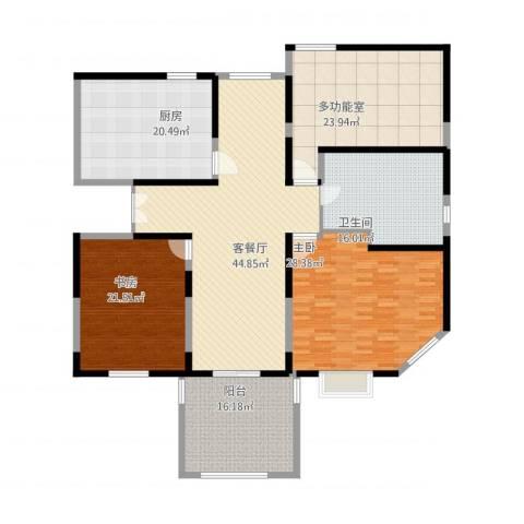 润和苑别墅2室1厅1卫1厨236.00㎡户型图
