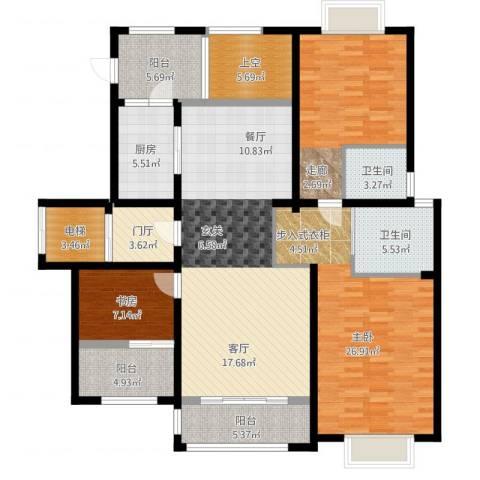 和协风格尚品3室1厅3卫1厨179.00㎡户型图