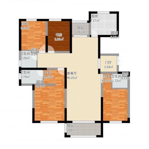 东方米兰国际城4室1厅7卫1厨175.00㎡户型图