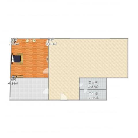 居华里1室1厅2卫1厨424.00㎡户型图