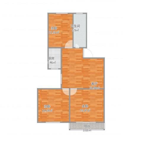 嘉城新航域803室1厅1卫1厨100.00㎡户型图