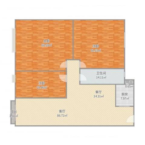 日高卡卡3室1厅1卫1厨328.00㎡户型图