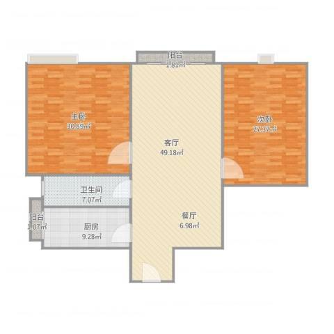 日高卡卡2室1厅1卫1厨167.00㎡户型图