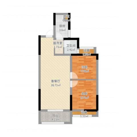 旭辉香樟公馆2室1厅4卫1厨84.00㎡户型图
