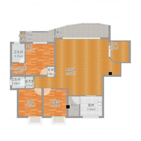 嘉年华国际社区3室1厅5卫1厨194.00㎡户型图