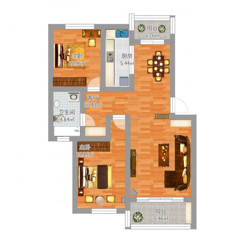 奉城康碧苑2室2厅