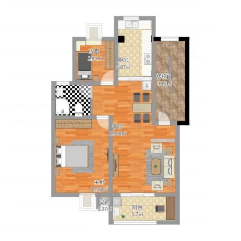 锦绣花园2室1厅1卫1厨105.00㎡户型图