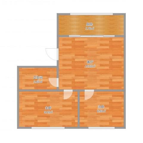 兴达花园2室1厅1卫1厨55.00㎡户型图