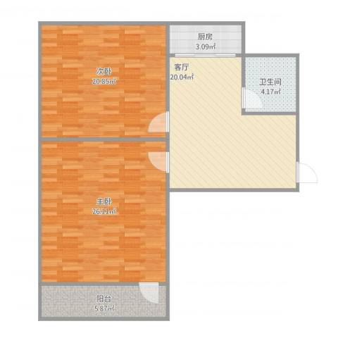 七四二二宿舍2室1厅1卫1厨85.45㎡户型图