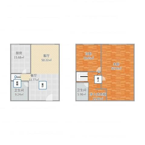 阳光100北园2室1厅2卫1厨217.00㎡户型图