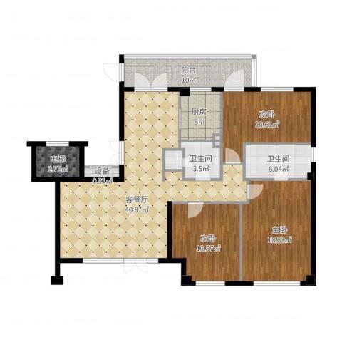泰禾一号院(平墅)-1563室1厅2卫1厨164.00㎡户型图