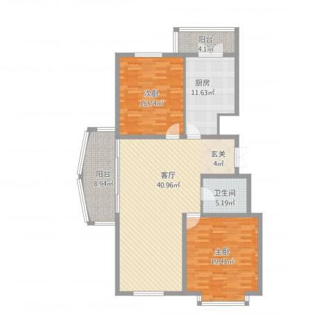 新天地家园2室1厅1卫1厨150.00㎡户型图