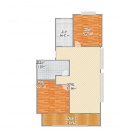 绿地华家池1号2室1厅1卫1厨176.00㎡户型图